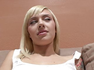 Fresh young faces fuck Fresh faced blonde fucks an older stud on the sofa