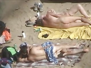 Hidden camera nudists Two couple on the beach