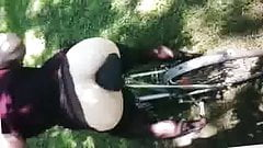 Bicycle seat butt fuck