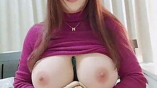 Huge boobs asian