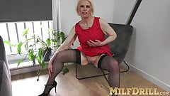 Mesmerizing mature slut is so wet when she sees young man