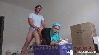 Angry Muslim bitch gets banged hard