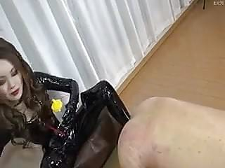 Rubber fist mitts - Femdom rubber latex anal fisting japanese