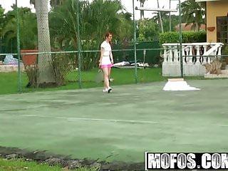 Foot bottom pain tennis ball Mofos - pervs on patrol - lick my tennis balls starring mel