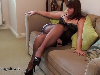 Fashion sexy Full fashioned stocking pussy licking