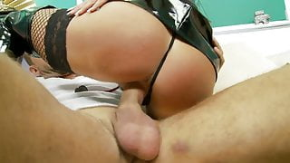 Bitch fucked hard showered with cumshots on her bobbies