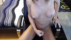 TGirl Sienna dildo masturbation