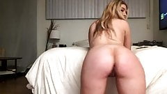 The blonde shows her holes are doggy style