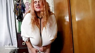 Kore Goddess weight gain – big tits and big belly