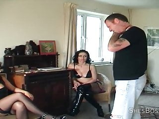 Asshole tongue - Slave cleans assholes with tongue