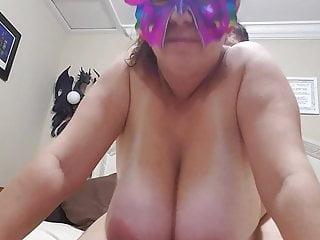 Boob busty huge Huge natural boobs busty milf bouncing slow motion closeup