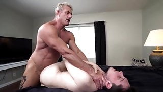 He meets his new step-son.. And barebacks him