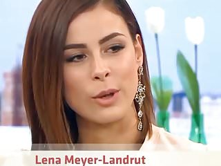 International celebrity foot fetish - Lena meyer landrut upskirt black mini german tv show oops