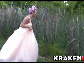 Bride bdsm - Krakenhot - public submission with a hard bride outdoor bdsm