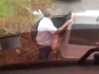Gay truckers lane Trucker spy couple outdoor