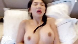 Big tits babe loves giving me blowjob and superior