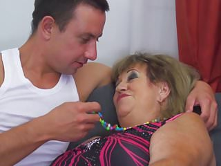 Young boy sex with old women - Granny gets taboo sex with horny young boy