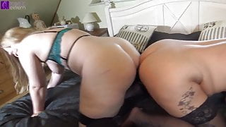 Double Anal Penetration! 2 anal mares in ass fuck fever!