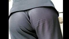 coworker no pants colega de trabalho sem calcinha