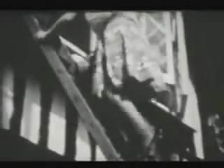 Naked on a ladder - Jackie parker - ladder strip