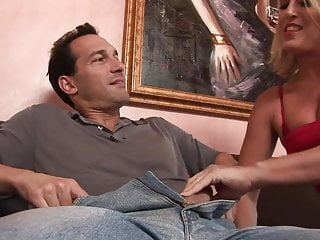 Hot blondes lingerie - Hot blonde milf seduces fit stud to fuck her in the living room