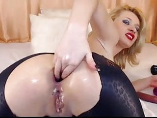 Gag dildo - Gr gagging and squirting on cam