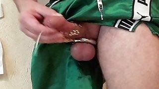 Handjob in shorts