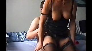 Mature wife enjoying anal sex