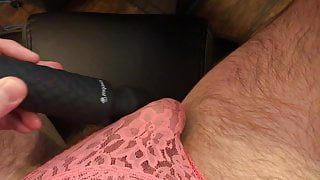 Sissy White Cuck Squirts in Wife's Panties for BBC