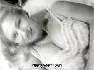 White vintage 1950 gloves Smiley naked cunt posing in her bedroom 1950s vintage
