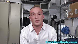 Bareback agent doggystyles straight guy