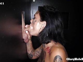 Cum suckers 11 trailer Sexy tattooed cock sucker eats cum in gloryhole