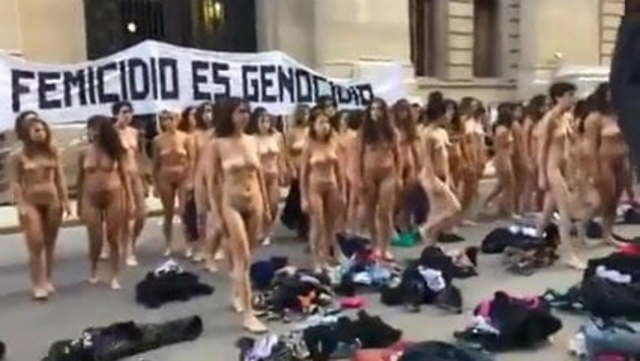 Nude Women Protest In Argentina Colour Version