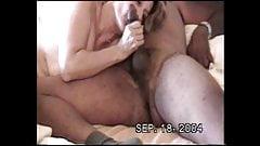 white granny deepthroating my cock