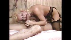 Very nice blonde in vintage scene