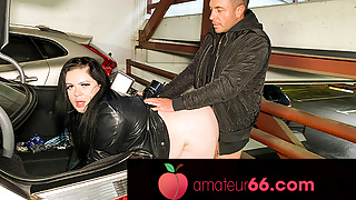 One-night stand at a parking lot – AnastasiaXXX! Amateur66.com