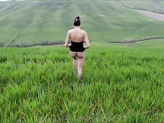 Naked girlfriend beach videos My naked girlfriend walking and dancing in panorama mountain