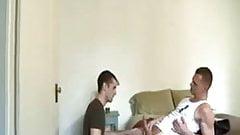Dad and stepson enjoying porn.