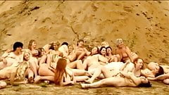 Nude group of women at Czech republic