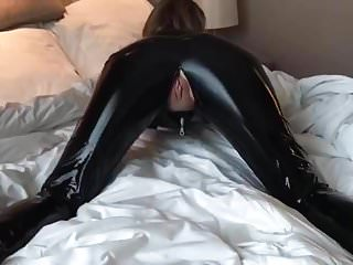 Spandex catsuit sex video Blonde beauty in a latex catsuit