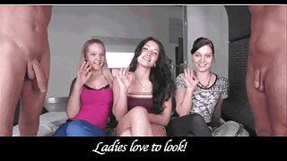 CFNM Handjob Compilation: Ladies Love Penis!!!