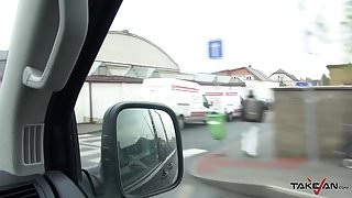 Takevan - Russian whore get in van to fuck & dont want leave
