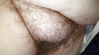 looking at her soft hairy pussy, big tits & niples