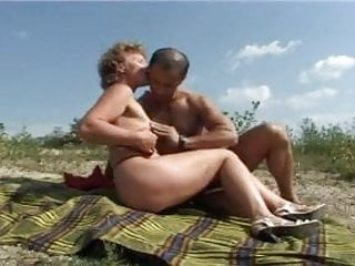 Fuck on beach Mature with small tits big nipples gets fuck on beach