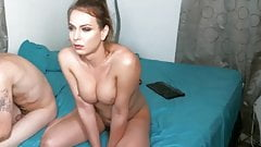 Big Cock Shemale Cums From Handjob