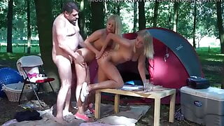 picnic turns into slutty group sex for dad and his girl