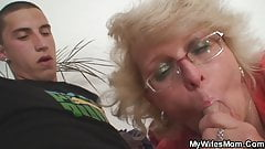 Blonde mother in law taboo doggy-fucking