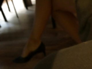 7 heel high mature streetshots woman Colleague in high heels pumps 7