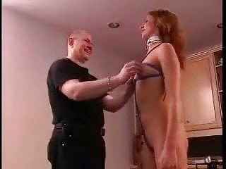 Hot redheaded women Daddy spanks and clamps his hot redheaded daughters friend