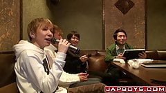 Asian homosexuals at karaoke turn to anal foursome